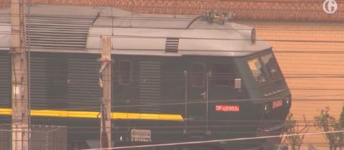 Did North Korea's Kim Jong-un ride in this mystery train to China? [image source: Guardian News/YouTube screenshot]