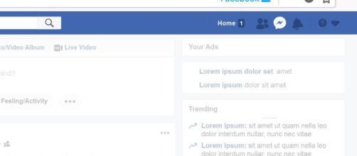 El subrayado azul indica que la pestaña Facebook está aislada