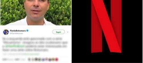 Filho de Bolsonaro recebe resposta da empresa na rede social