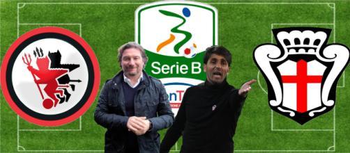 Giovanni Stroppa e Gianluca Grassadonia, allenatori di Foggia e Pro Vercelli che si incontreranno domani nella 33^ di Serie B