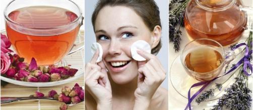 Infusiones naturales que puedes usar como tónico para el rostro.
