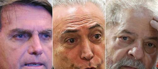 Lula, Temer e Bolsonaro encabeçam entre os políticos mais influentes do Brasil na atualidade