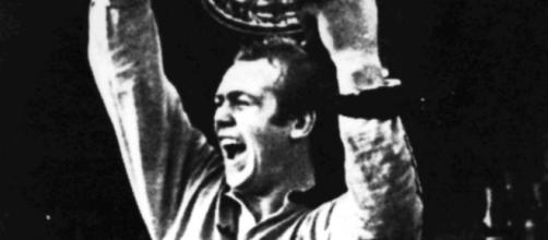 Malcolm Reilly - one of Castleford's greatest ever players, lifting the Australian title with Manly. Image Source - https://www.seaeagles.com