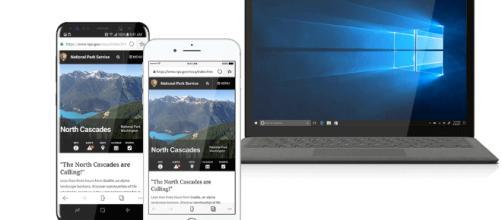 Microsoft Edge permite a los usuarios tener una experiencia continua y consistente en todos sus dispositivos móviles.