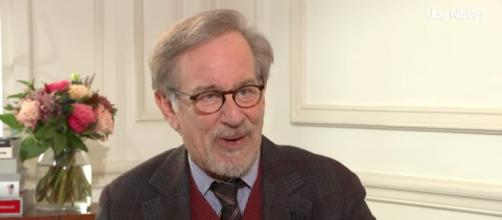 Steven Spielberg promoting his new film 'Ready Player One' [Image via ITV News/YouTube screencap]