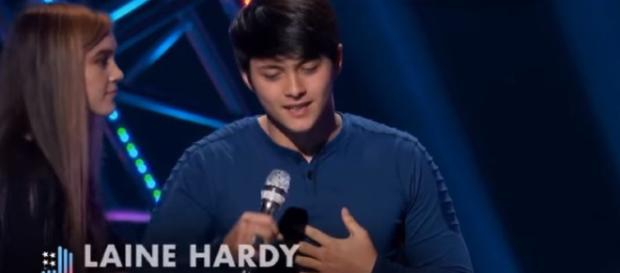 American Idol Laine Hardy does a Bieber number wth a girl group - nails it. - Image credit - Talent Recap | YouTube