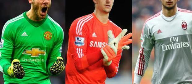 De Gea, Courtois y Donnarumma: tres candidatos a la portería del Real Madrid