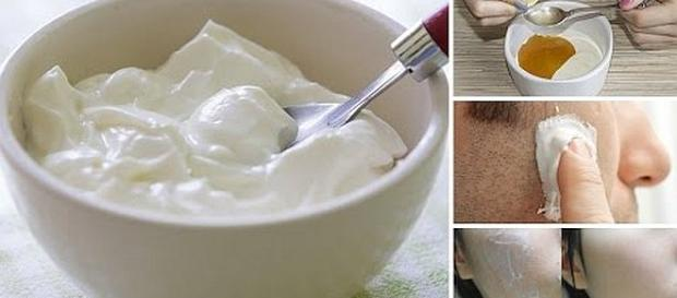 Yogurt is a very inexpensive beauty product [Image: Nature Cures/YouTube screenshots]