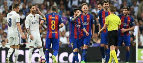 Real Madrid e Barcelona é um dos maiores clássicos do mundo. (foto reprodução).