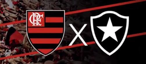 Flamengo x Botafogo ao vivo nesta quarta. (foto reprodução).