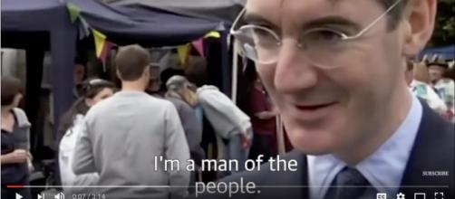 Jacob Rees-Mogg claims to be a man of the people. - [image source: People / YouTube screenshot]