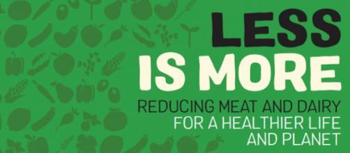 """""""Less is more"""", ovvero """"Meno è meglio"""", Greenpeace invita a produrre meno carne e latticini-caseari entro il 2050. (foto: web)"""