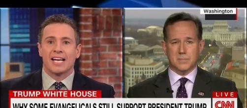 Rick Santorum on CNN, via YouTube