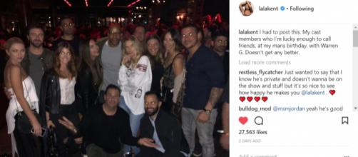 The Pump Rules cast at Emmett's birthday party in Los Angeles on Saturday March 24. (Image: Instagram/Lala Kent)