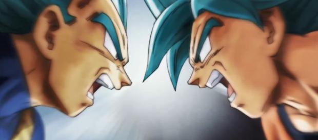 Goku y Vegeta en la pelea final del episodio 131
