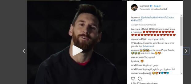 Leonel Messi es la cara de las nuevas zapatillas de Adidas #Nemeziz - Instagram