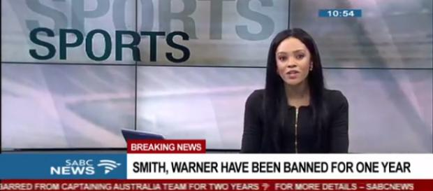 Smith and Warner are banned for one year. Photo - (Image credit SABC News-Youtube.com)