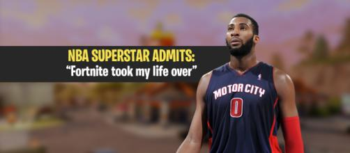 """Andre Drummond reveals he's addicted to """"Fortnite Battle Royale."""" Image Credit: Own work"""