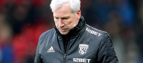 Gone: Alan Pardew become the second West Brom manager to be handed his P45 this season after Tony Pulis. Credit - guernseypress.com
