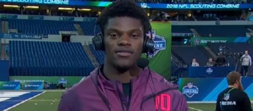 Lamar Jackson throws 59 passes at Louisville pro day (Image Credit: NFL Network/YouTube)