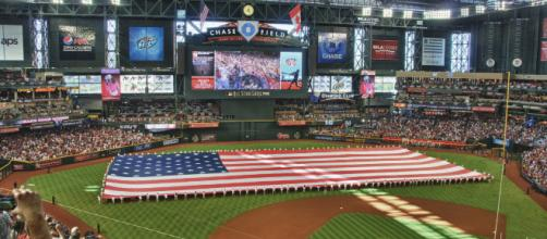 Major League Baseball opens its season today. [Image source: Eric Kilby/Flickr]