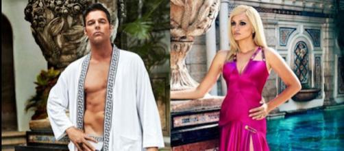Penelope Cruz y Ricky Martin posan como Donatella Versace y Antonio D'Amico (FXNetworks)