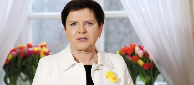 Beata Szydło składająca życzenia Polakom.