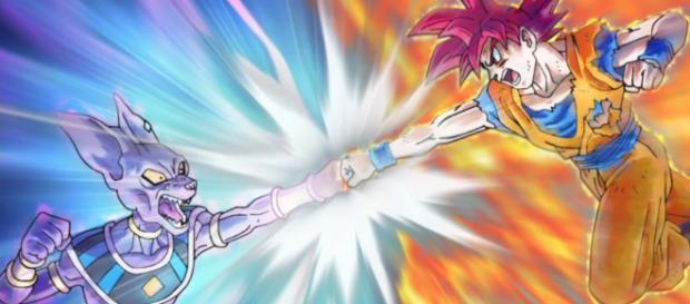 Ein Kampf zwischen Göttern: Beerus vs Son Goku - dragonball.wikia.com