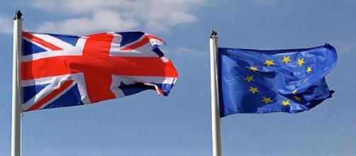 British and EU flag (stock image)