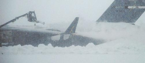 Heavy Snowfall received in many regions. [Image Source: http://www.dover.af.mil]