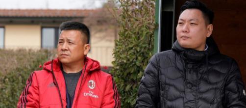 Il Presidente rossonero con Han Li