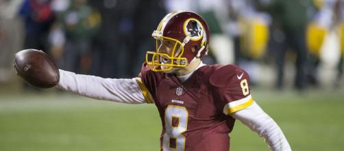 Kirk Cousins is leaving the Redskins. [image source: Keith Allison/Wikimedia Commons]