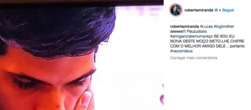 Roberta Miranda voltou a falar de Lucas. (foto reprodução).