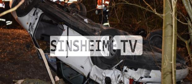 Der Fahrer starb am Unfallort. Foto: SinsheimTV/Buchner