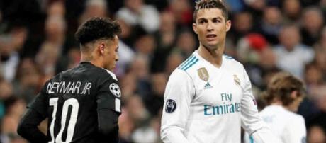 Cristiano Ronaldo jogou contra Neymar na Champions Legue