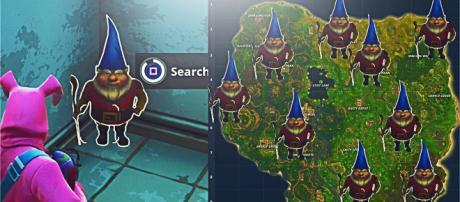 Fortnite gnome locations. [image source: DooM H1GGSY/YouTube screenshot]