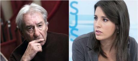 José Sacristán e Irene Montero