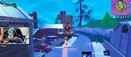 Pro-gamer Ninja and the rocket ride in 'Fortnite' - YouTube/FantasticalGamer