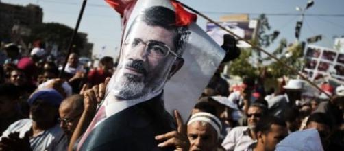 Des partisans de l'ancien président égyptien Mohamed Morsi lors d'une manifestation © AFP