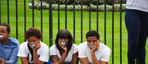 Howard University Students at Troy Davis execution protest in Washington DC -- Photo Yourspace/Flickr