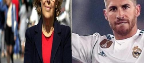 Manuela Carmena le declara la guerra a Sergio Ramos