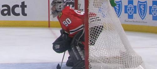 Scott Foster fulfilled a lifelong dream and played in an NHL game last night [Image via NHL / YouTube Screencap]