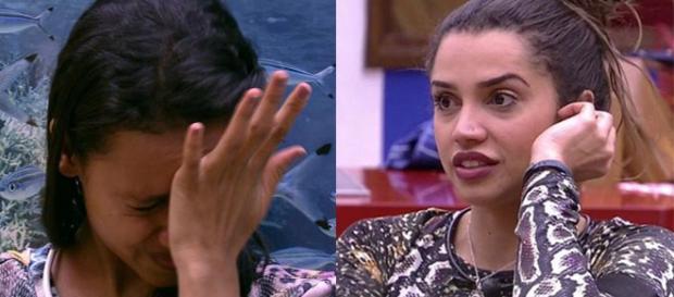 Ayrton tentou tranquilizar Gleici e Ana Clara