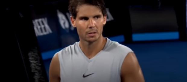 Rafael Nadal hasn't played an official match since January. Photo: screenshot via Australian Open TV channel on YouTube