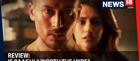 'Baaghi 2' is released- Photo of Tiger and Disha -( image credit News 18-Youtube.com)