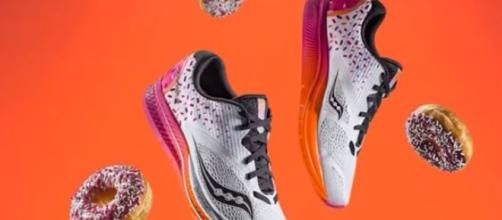 There are only 2,000 pairs of these awesome new Dunkin'-inspired kicks from Saucony.- Image credit - CBS Philly | YouTube