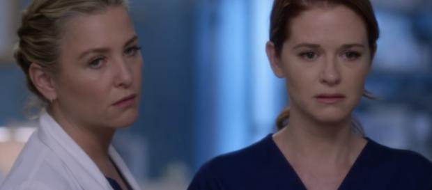 'Grey's Anatomy': April Kepner and Arizona Robbins have one foot out the door. [image source: YouTube screenshot]