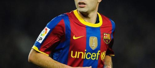 Andrés Iniesta sufrió una lesión en el tendón de la corva