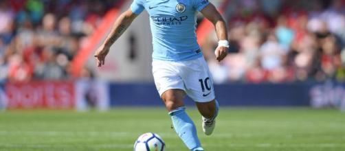 El delantero del Manchester City Sergio Agüero
