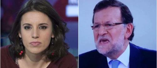 Irene Montero y Rajoy en imagen de archivo